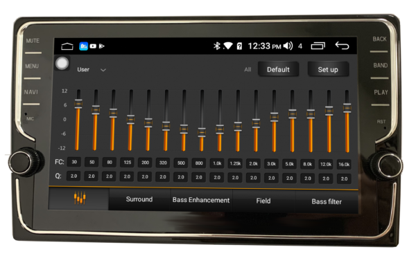 """IQ Series"" 10″ with Knobs 1080P Android Touch Screen – LWIQ-201K"