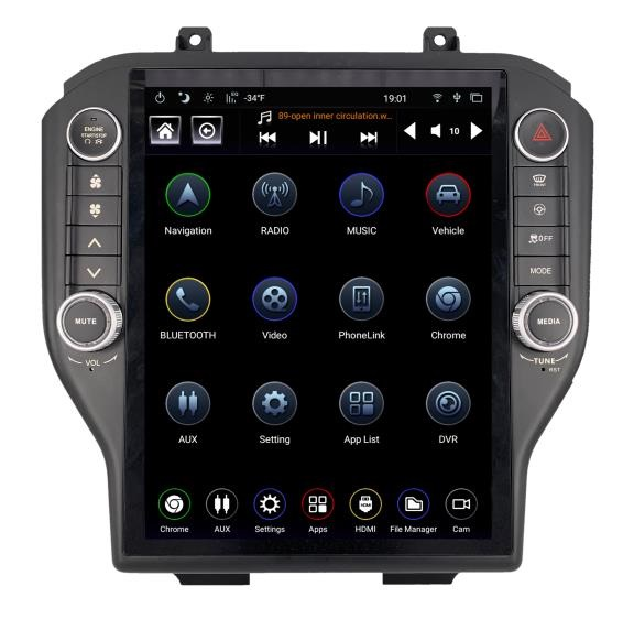 2015-2020 Ford Mustang Generation IV T-Style Radio TS-FDMU12-1RR-4A